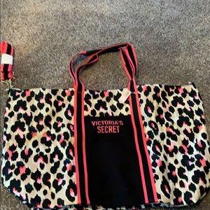 VS Pink Leopard Tote Bag